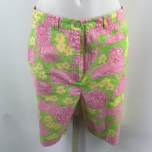 Lilly Pulitzer Pink Lion Print Shorts Size 4
